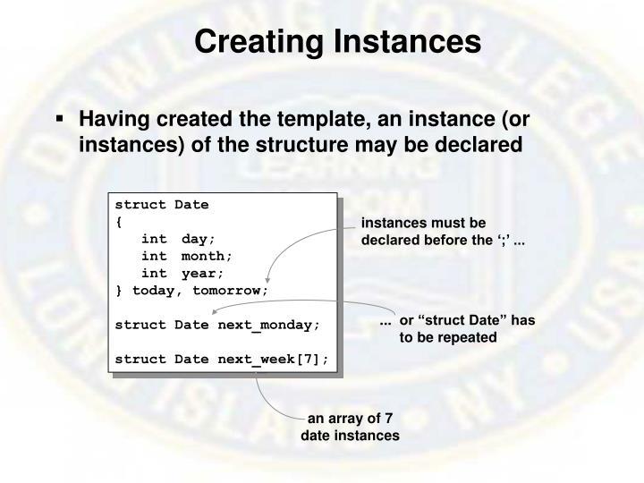 Creating Instances