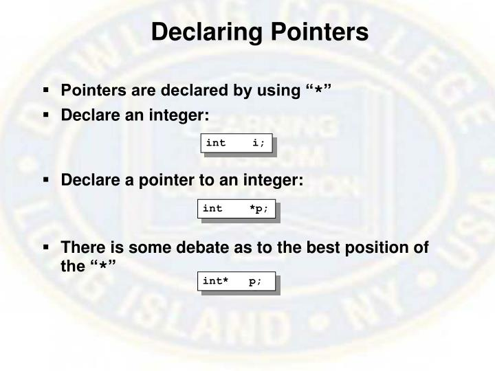 Declaring Pointers