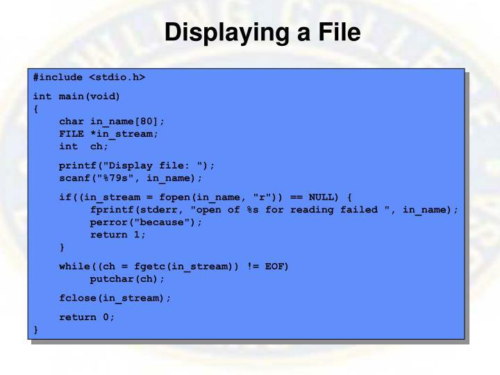 Displaying a File