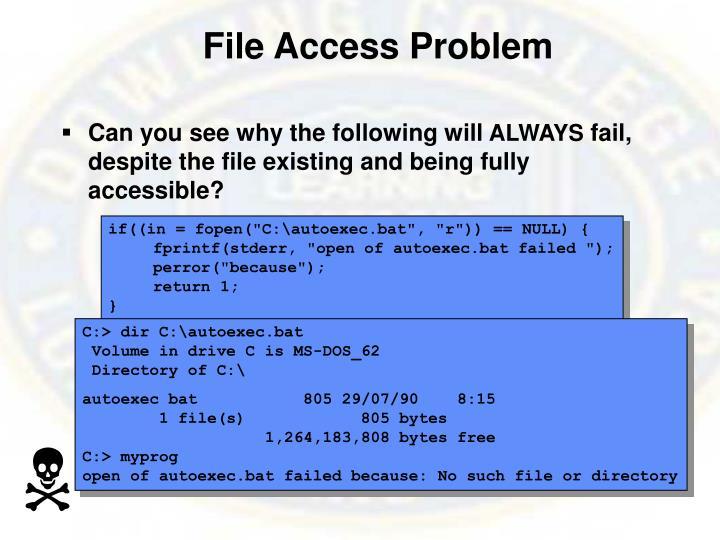File Access Problem