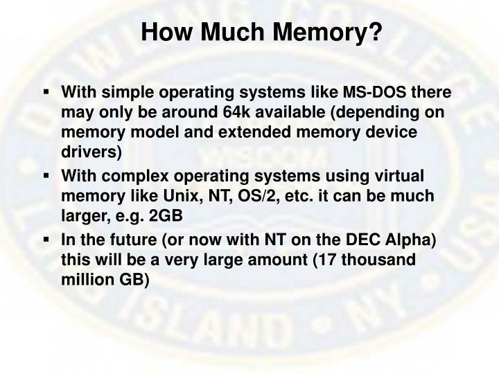 How Much Memory?