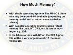 how much memory