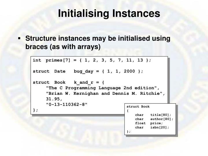 Initialising Instances
