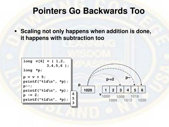 Pointers Go Backwards Too
