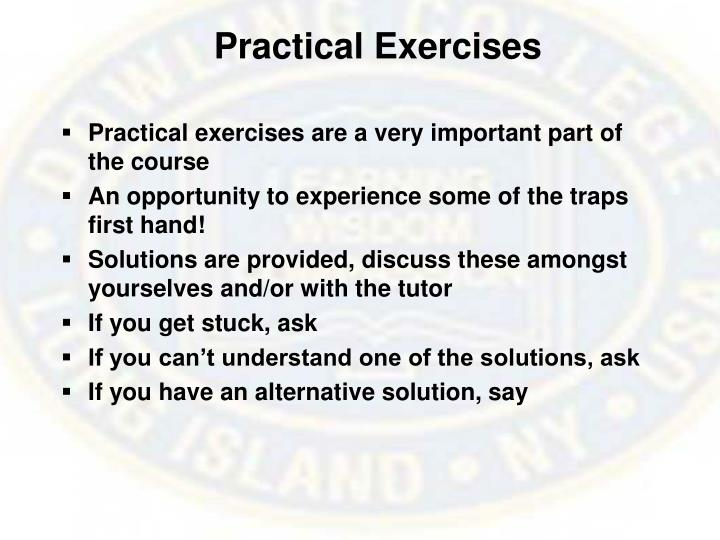 Practical exercises