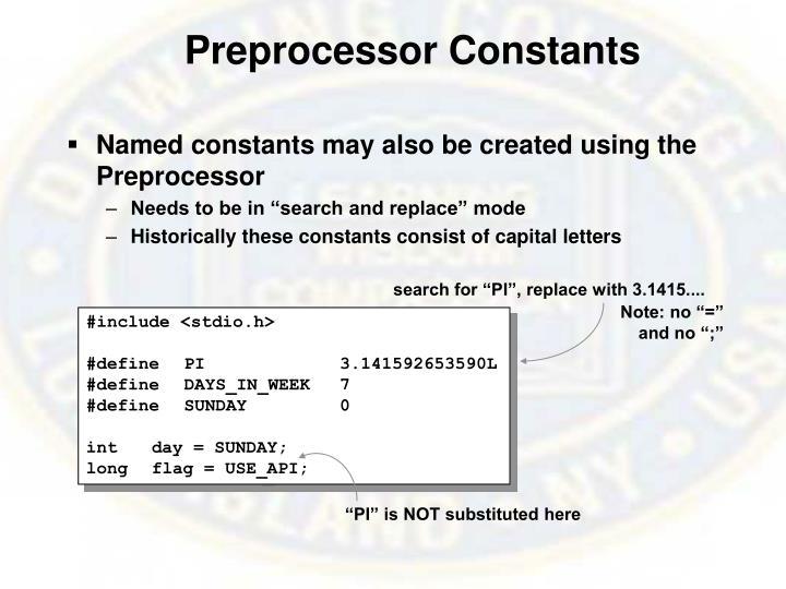Preprocessor Constants