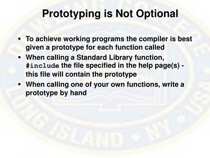 Prototyping is Not Optional