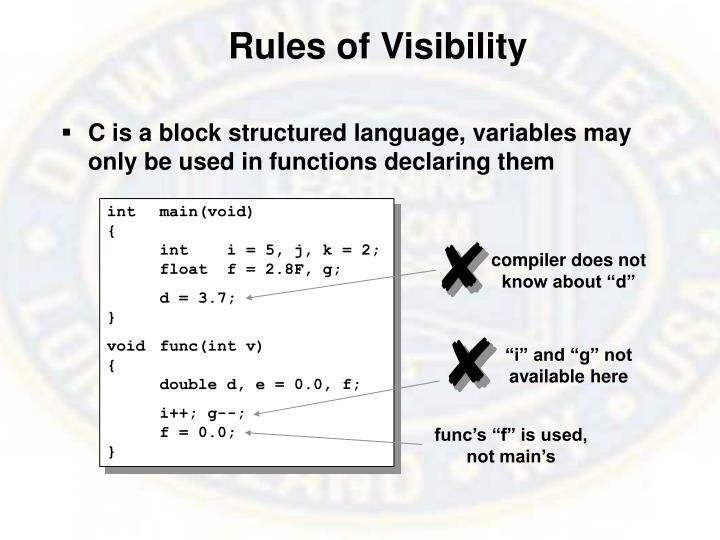 Rules of Visibility