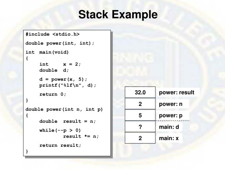 Stack Example