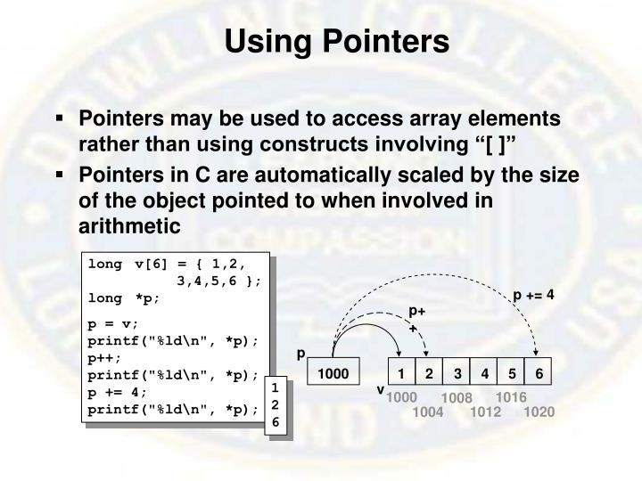 Using Pointers