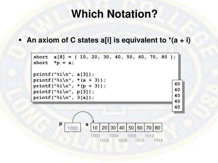 Which Notation?