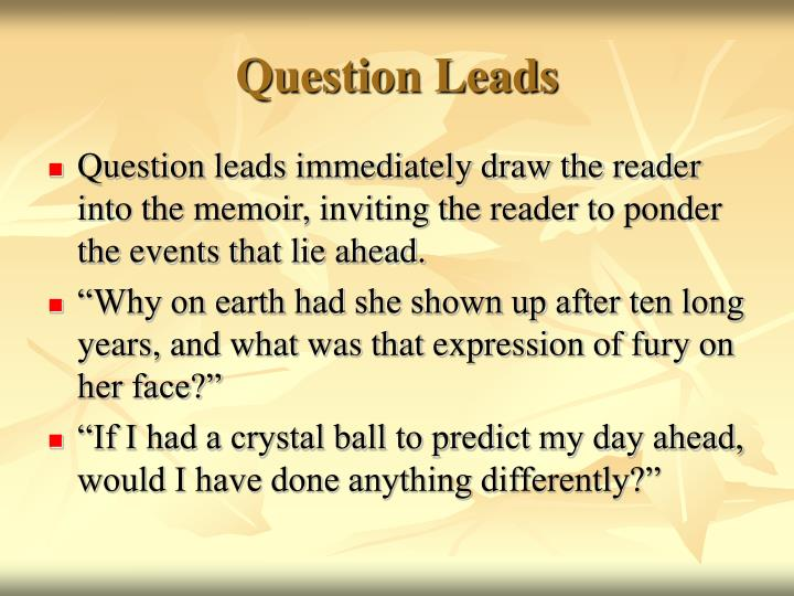 Question Leads