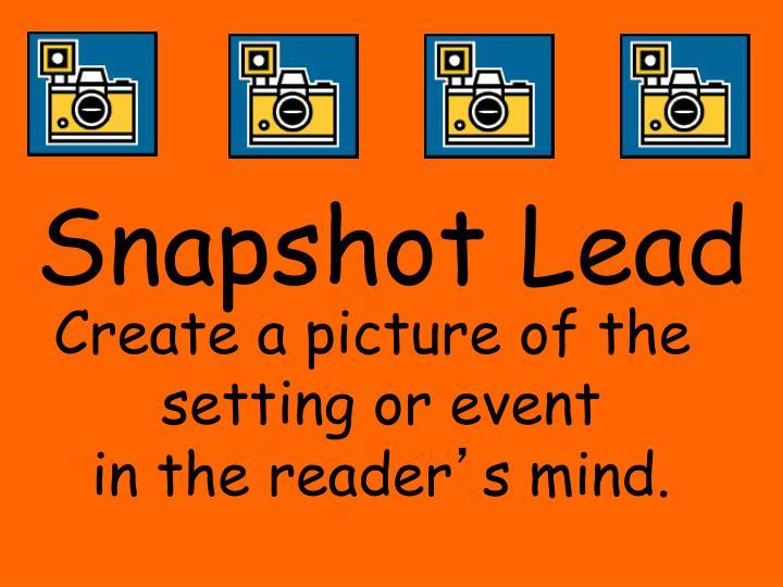 Snapshot Lead