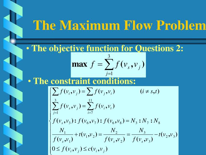 The Maximum Flow Problem