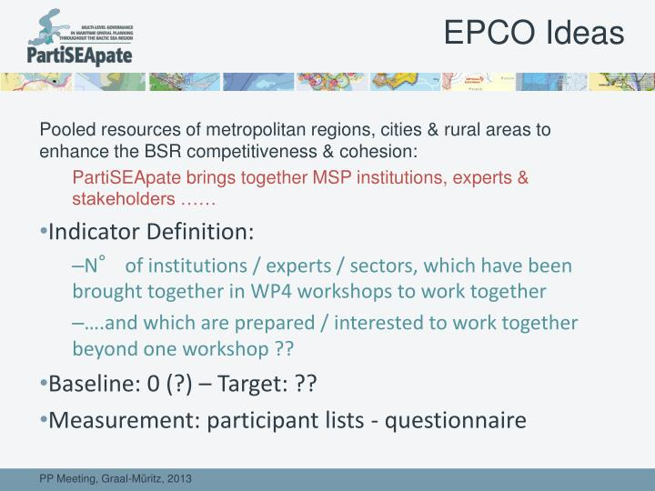 EPCO Ideas