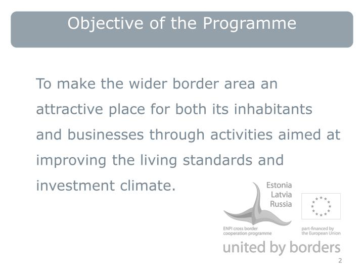 Objective of the Programme