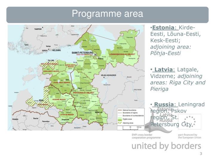 Programme area