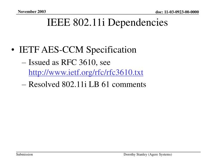 IETF AES-CCM Specification