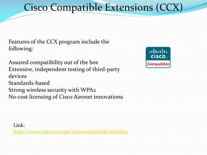 Cisco Compatible Extensions (CCX)