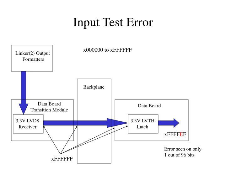 Input Test Error