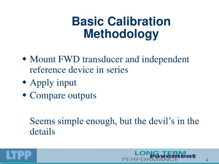 Basic Calibration Methodology