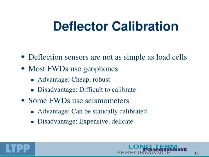 Deflector Calibration