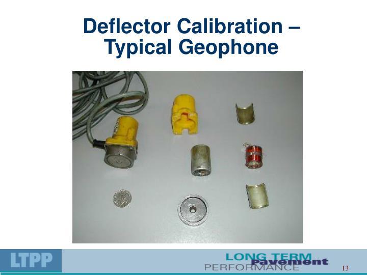 Deflector Calibration –