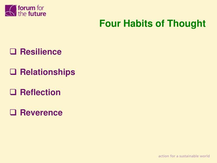 Four Habits of Thought