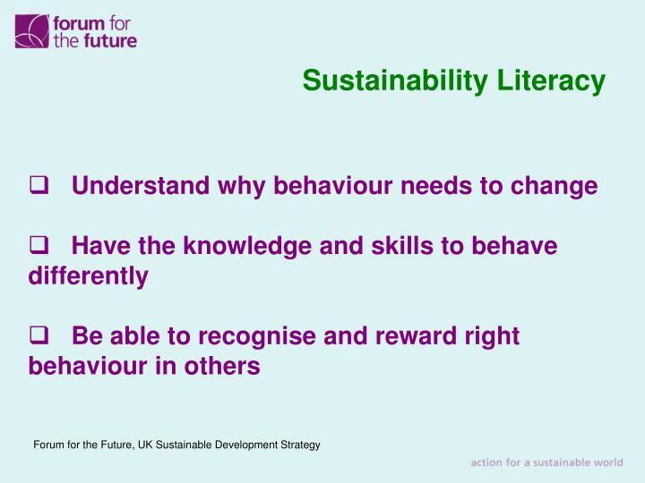 Sustainability Literacy
