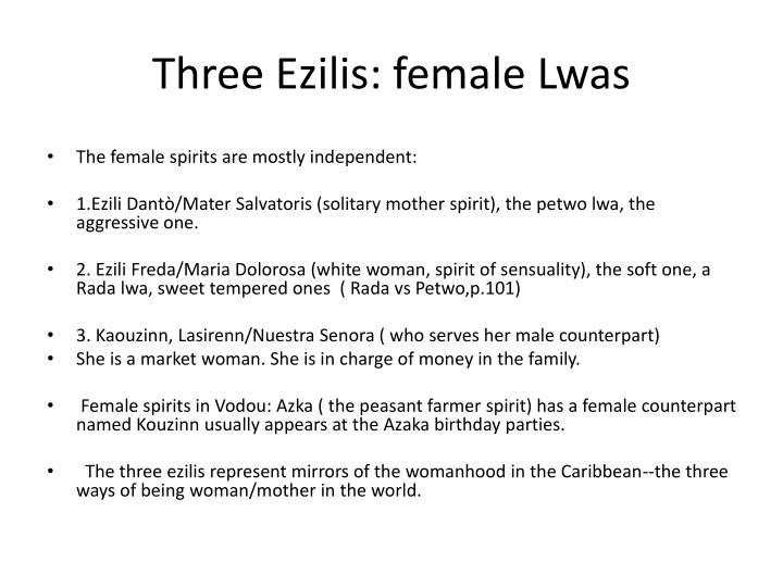 Three Ezilis: female Lwas