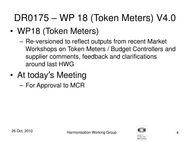 DR0175 – WP 18 (Token Meters) V4.0