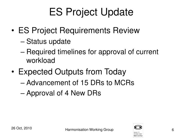 ES Project Update