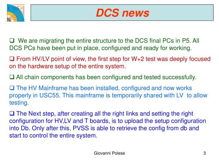DCS news