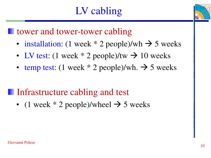 LV cabling