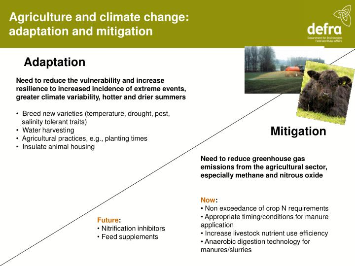 Agriculture and climate change:
