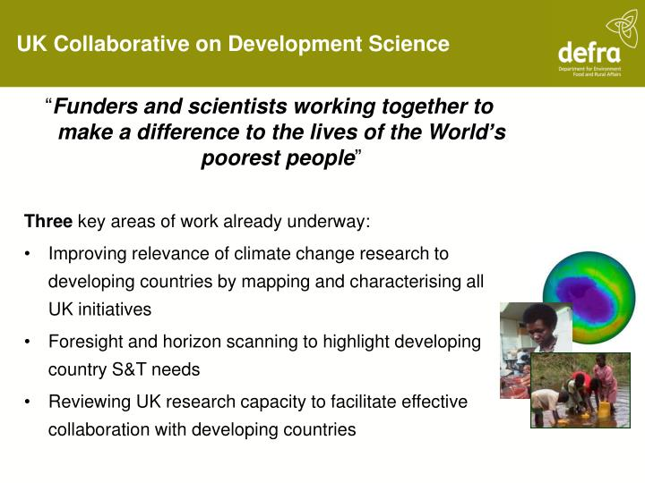 UK Collaborative on Development Science