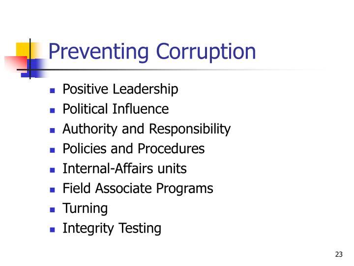 Preventing Corruption