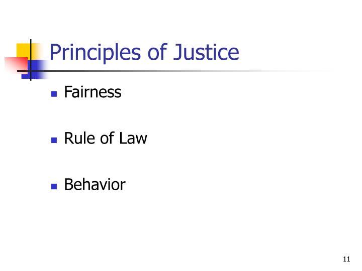 Principles of Justice