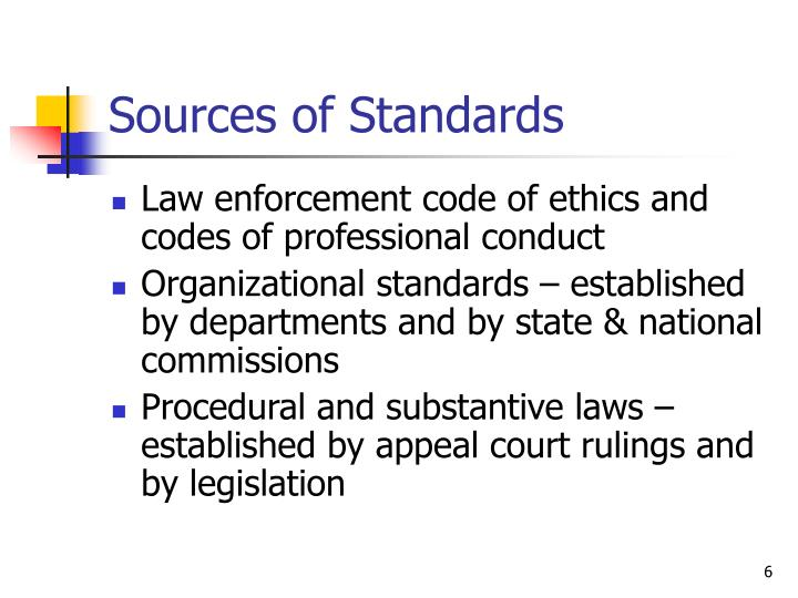 Sources of Standards