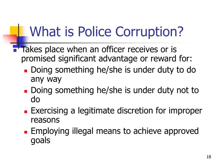 What is Police Corruption?