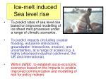 ice melt induced sea level rise