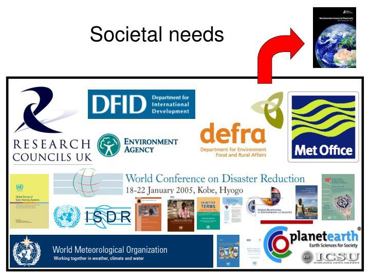 Societal needs