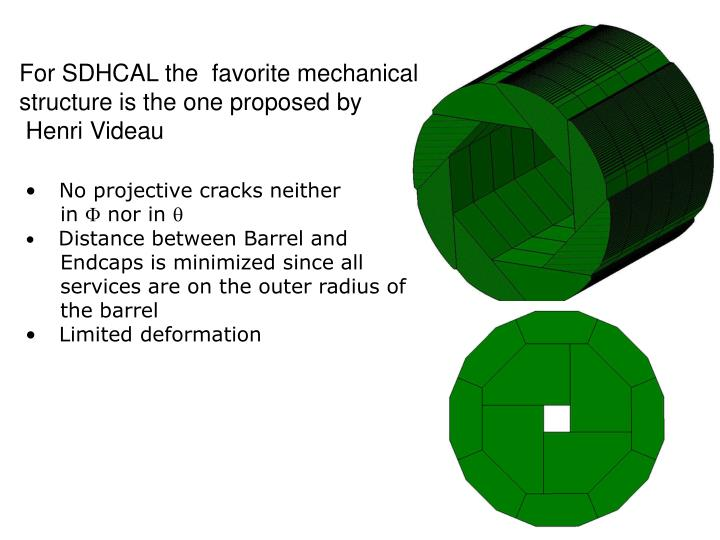 For SDHCAL the  favorite mechanical