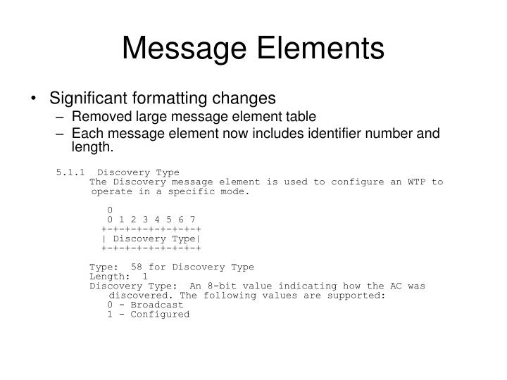 Message Elements