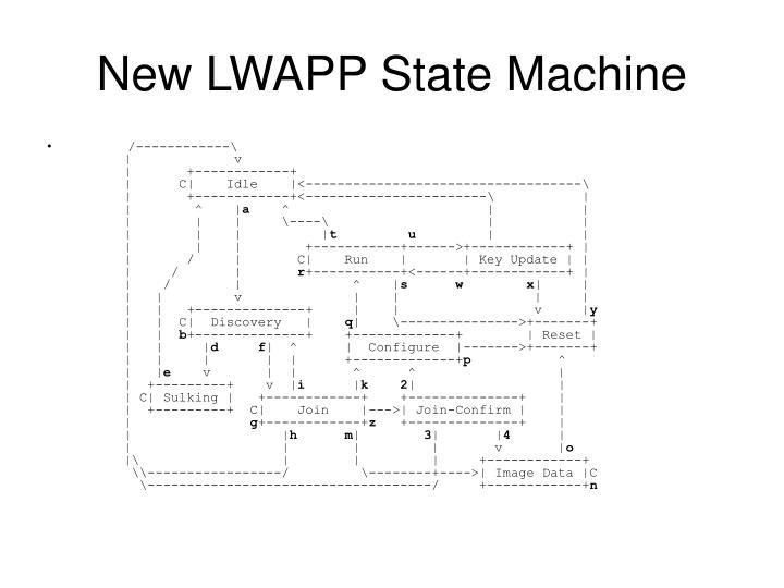 New LWAPP State Machine