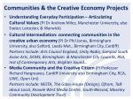 communities the creative economy projec ts