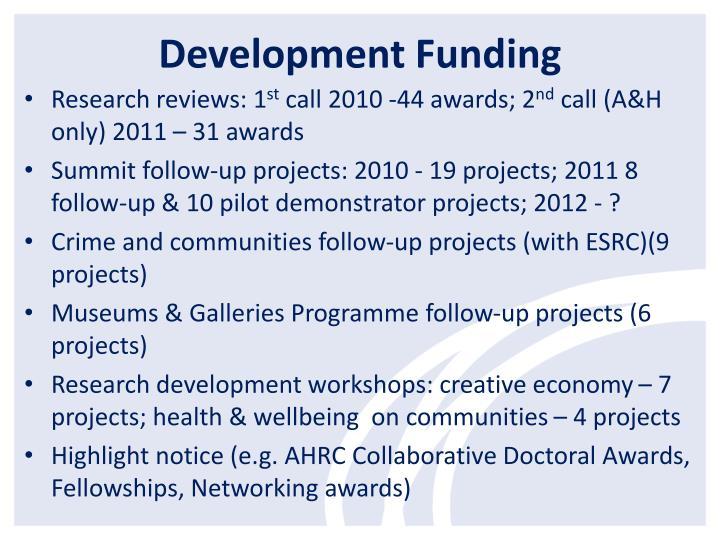 Development Funding