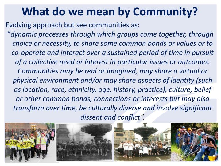 What do we mean by Community?