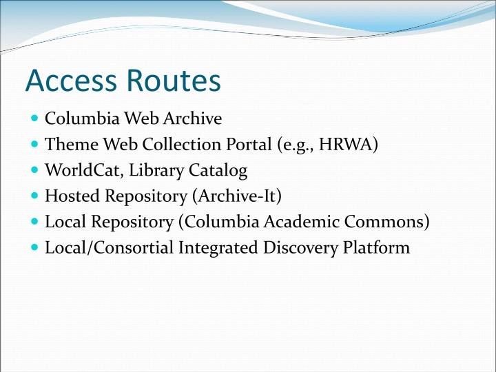 Access Routes