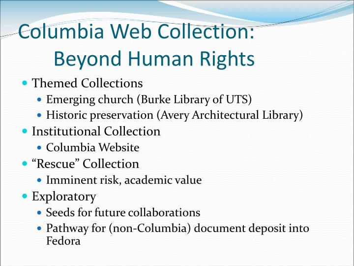 Columbia Web Collection: